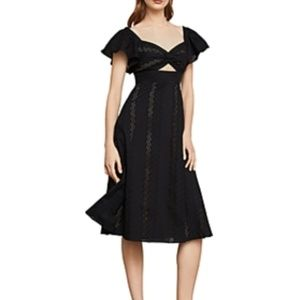 BCBG Embroidered Fit and Flare Dress Sz 2